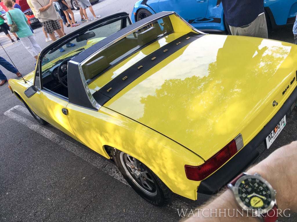 A Porsche 914 in brilliant yellow matched my watch to a tee.