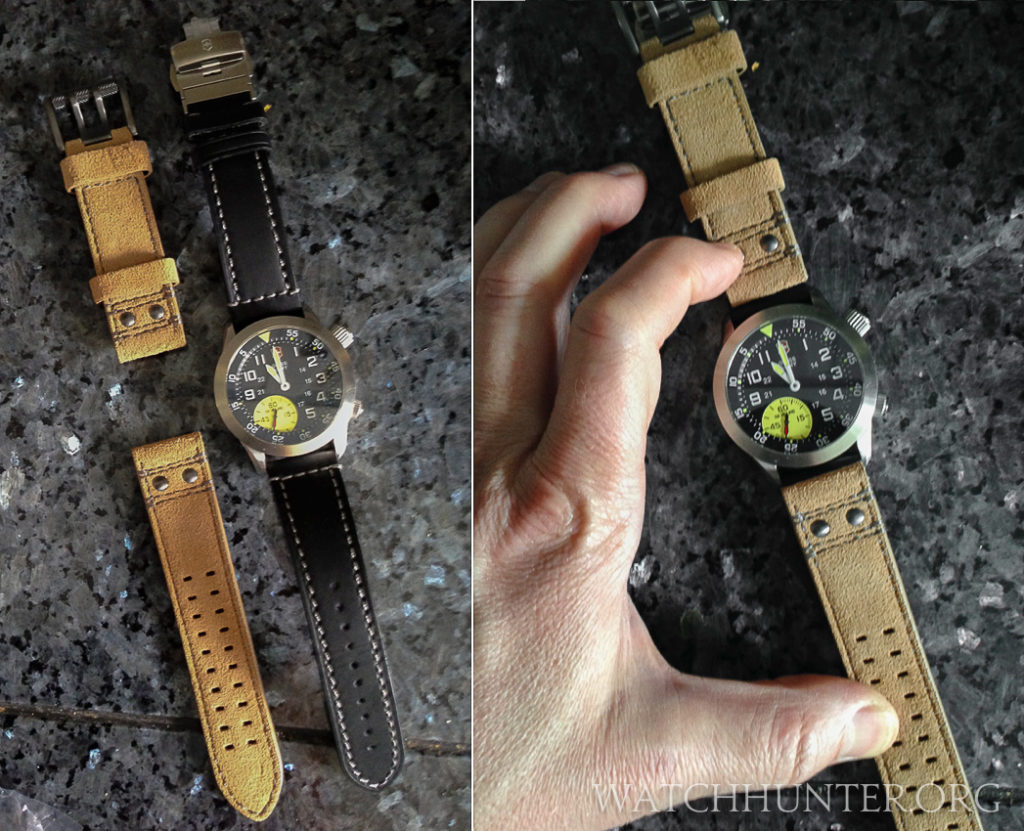 Changing the watchband on the Victorinox Swiss Army Airboss Mach 4 Limited Edition