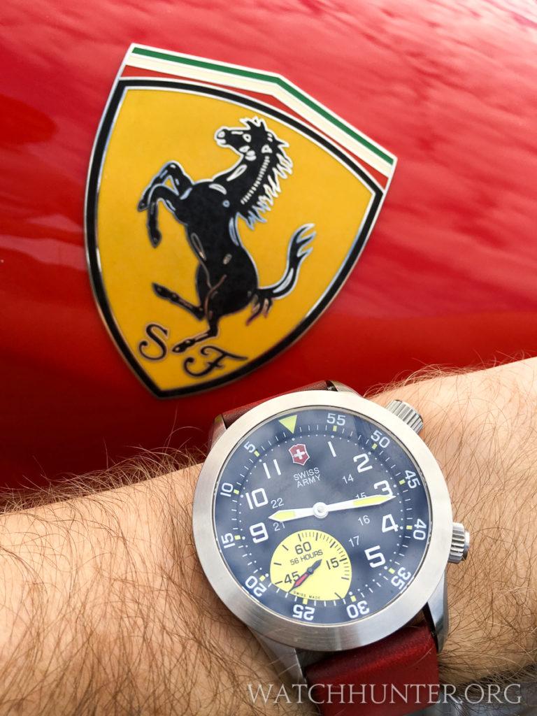 Similar colors as a Ferrari badge, but not a perfect match