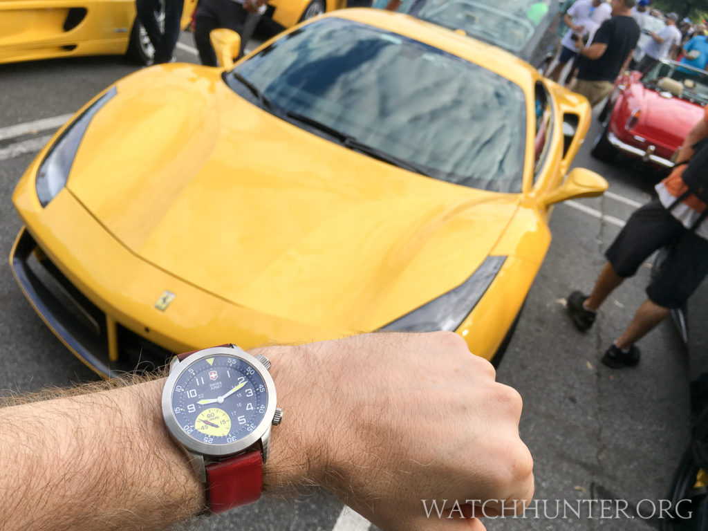 A yellow Ferrari would totally work for me. I already have the watch so I had better start saving pennies.