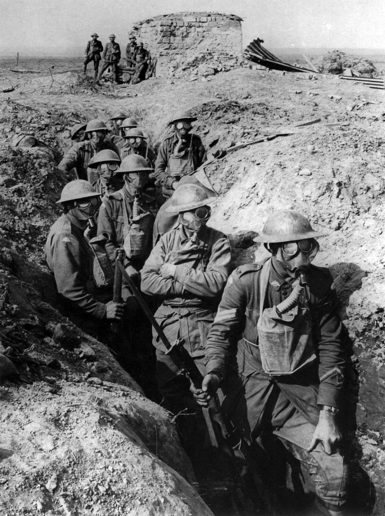 World War I soldiers. The one in front has a wristwatch. Photo: Wikipedia