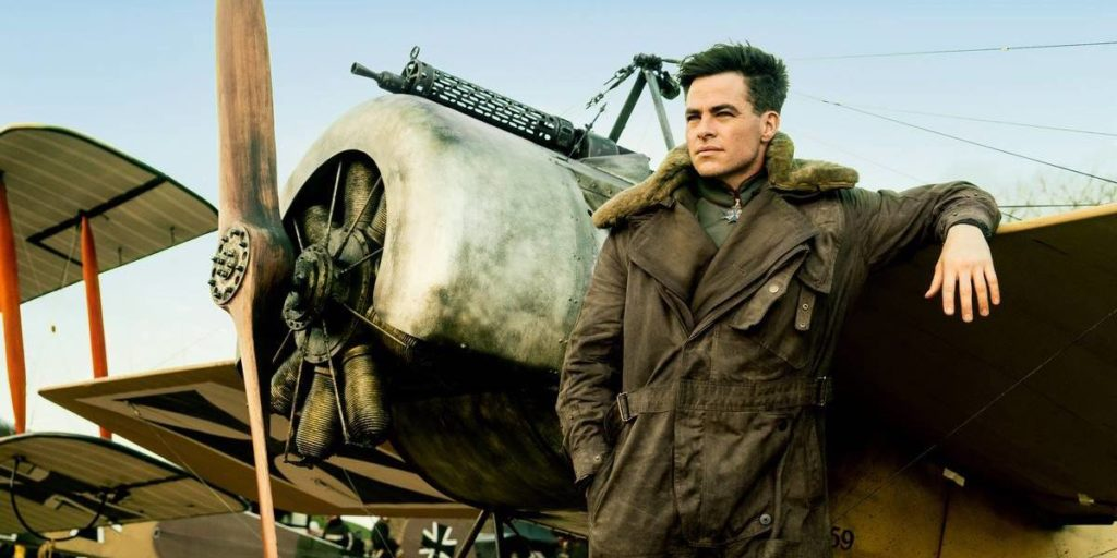 Chris Pine as Steve Trevor is not wearing the watch here, which would be over his sleeve. Photo: DC Entertainment*
