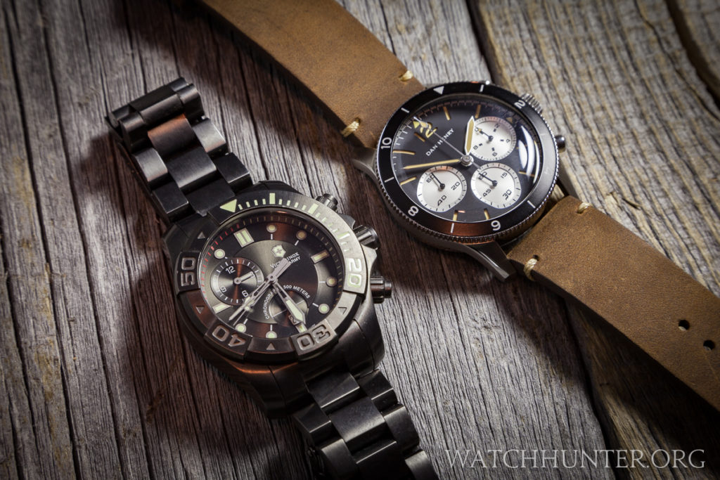 Victorinox Swiss Army Dive Master 500 Chronograph with the Dan Henry 1963 Chronograph.