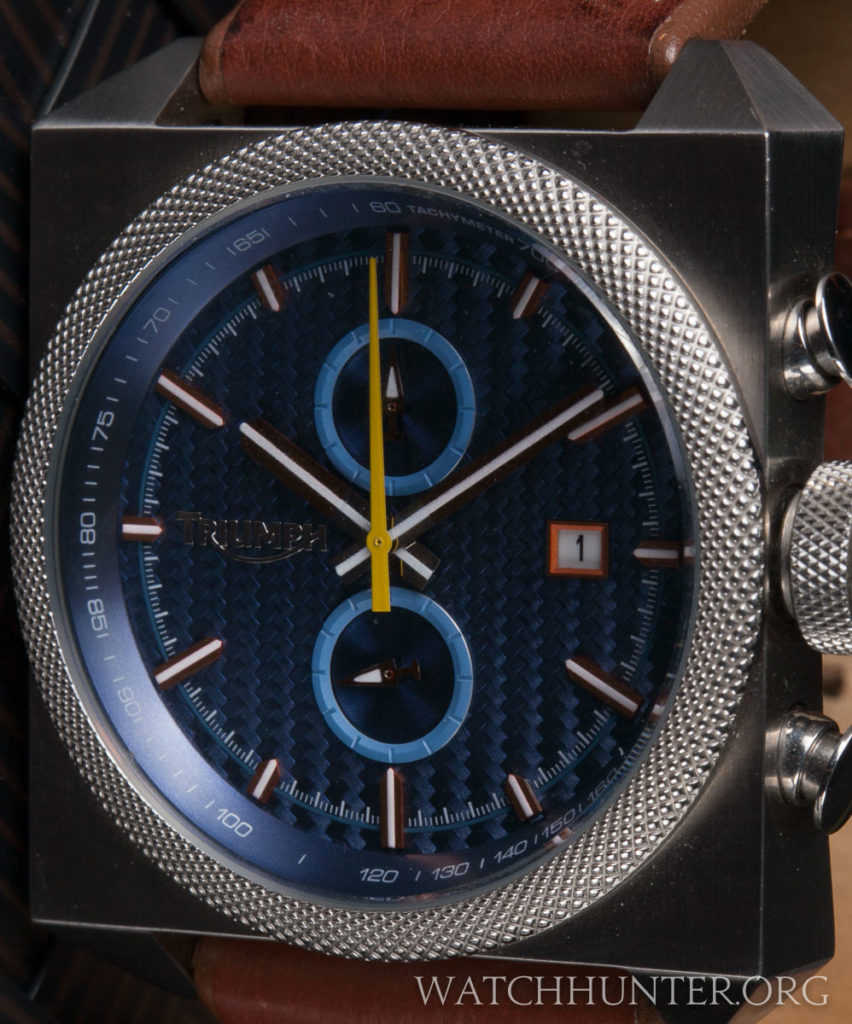 The sub-dials are treated as beautiful design elements on the dial, but lack numbers.
