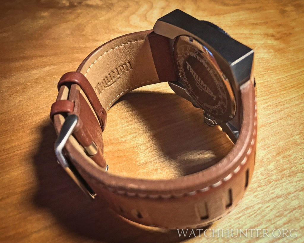 The watch band is multiple layers with the hole slits and also repeated filled slits. Photo: Scott Dorman