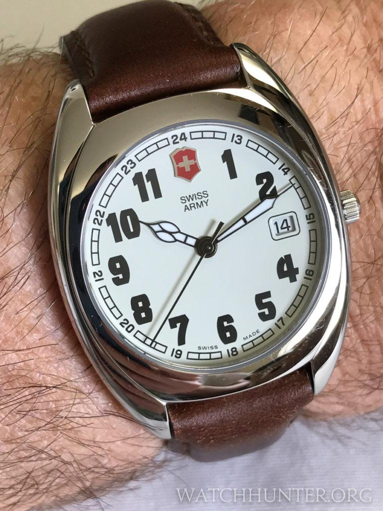 A Swiss Army watch with a pre-Victorinox logo. Photo: Kraig Radesi