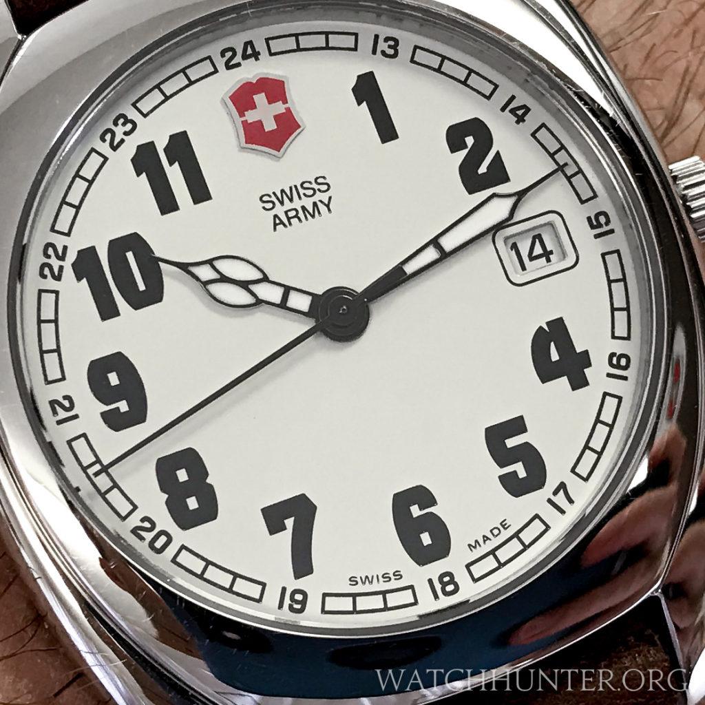 Swiss Army Whisper handset and dial detail. Photo: Kraig Radesi