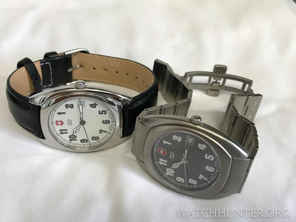 Incredibly thin Whisper watches by Victorinox Swiss Army. Photo: Kraig Radesi