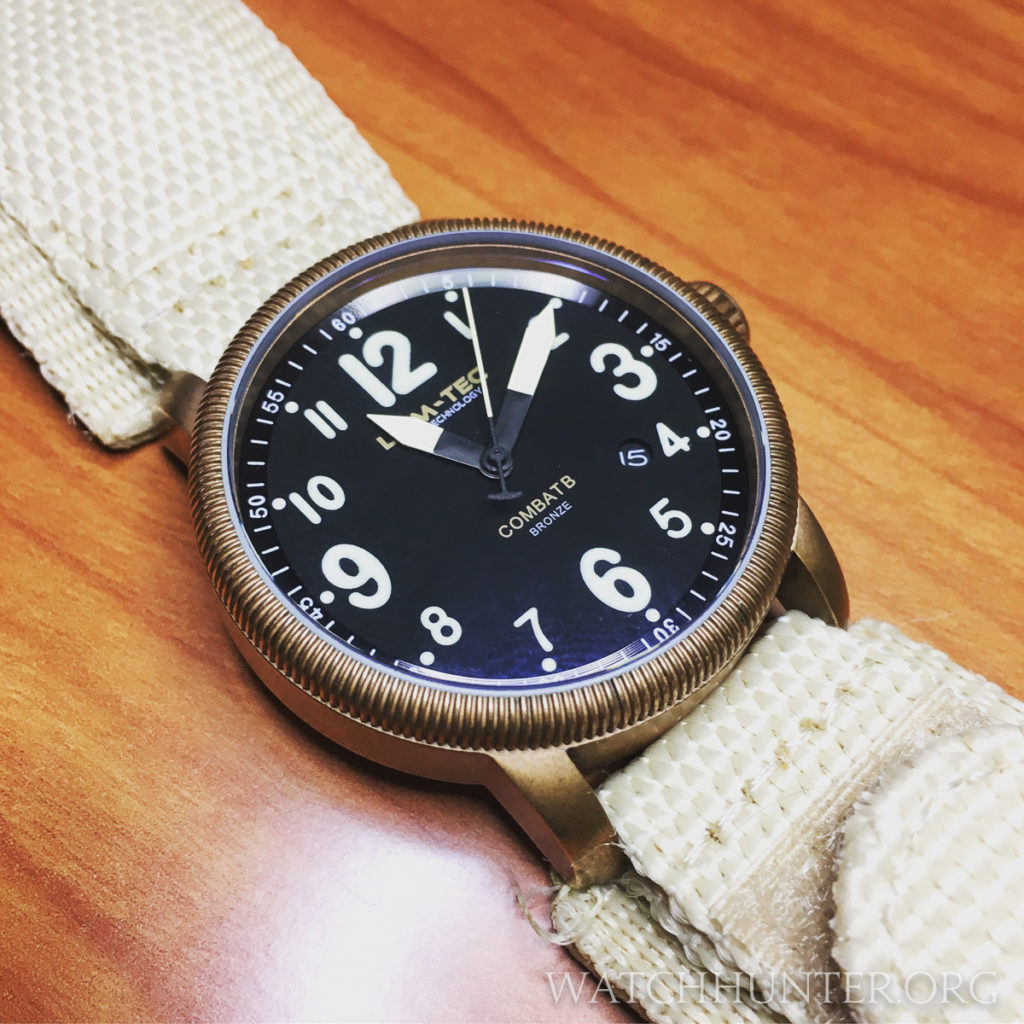Lum-Tec Combat B18 Bronze on Bell & Ross style textile watch band