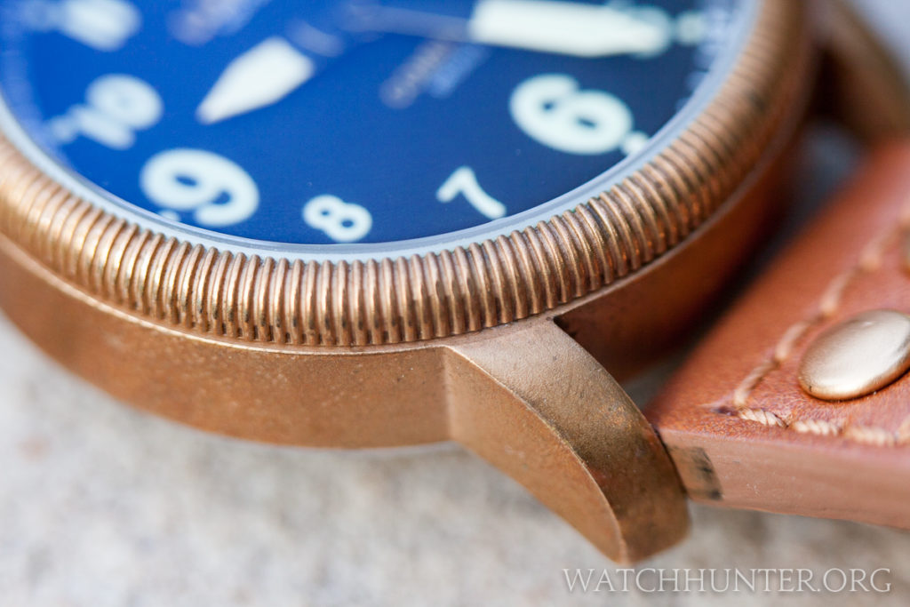 The bronze patina on my Combat B18 is completely natural.