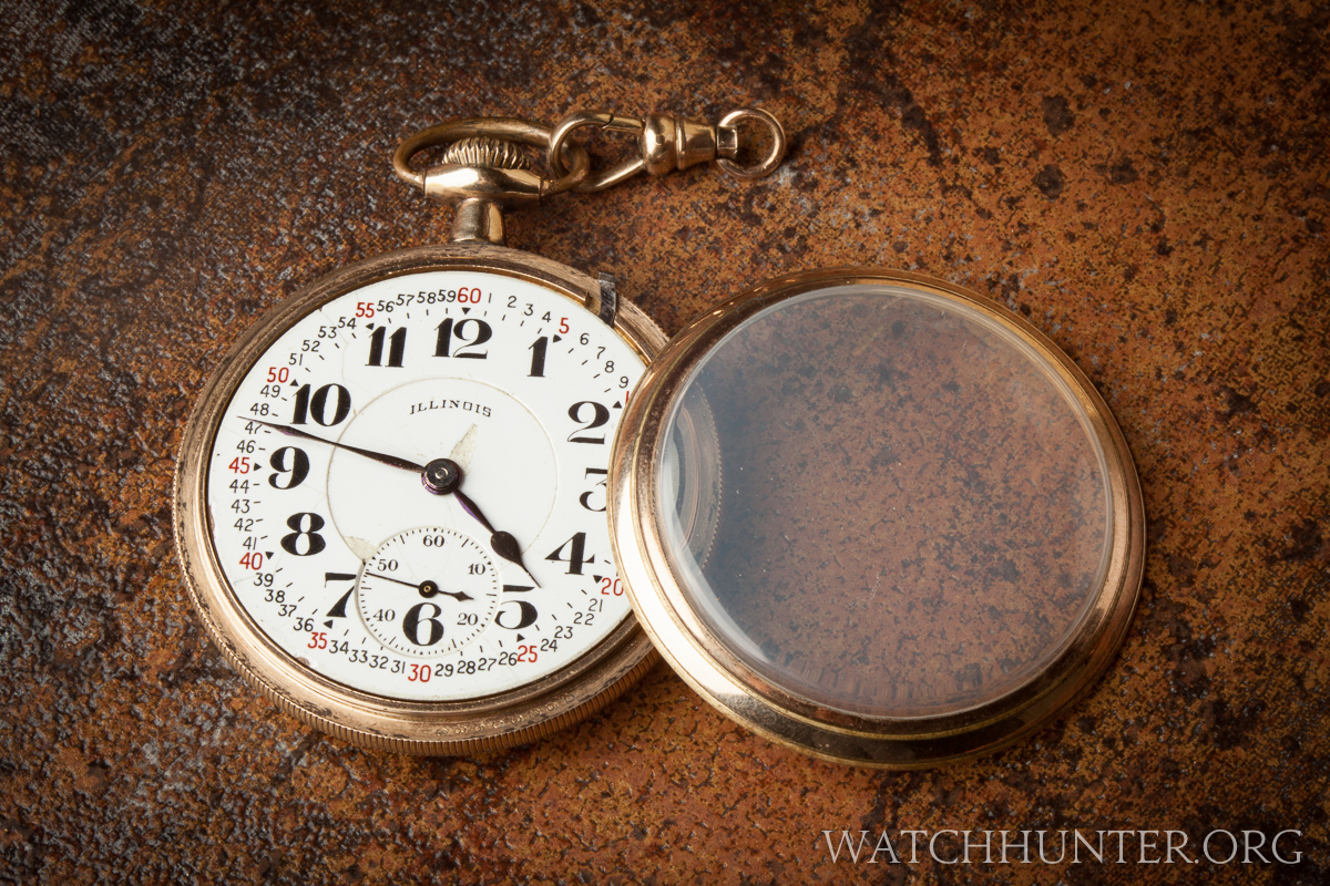 The watch is 50 mm wide and was worn on the end of a chain.