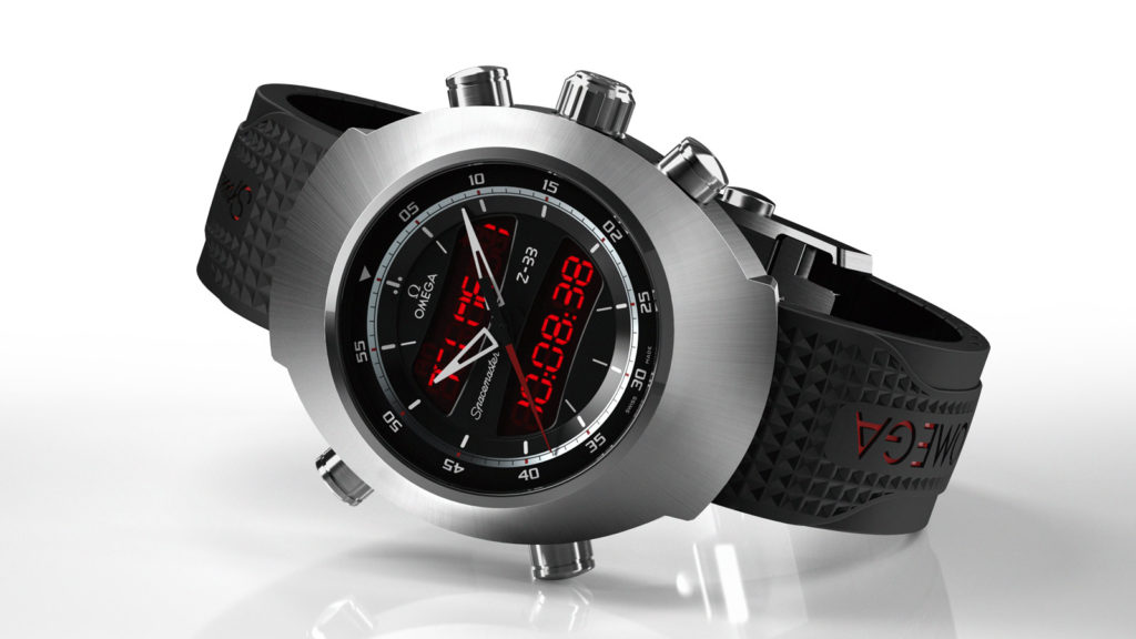 The Omega Z-33 Spacemaster Digital Analog watch is gorgeous but is sized like a hockey puck. Photo by Omega