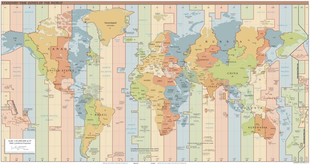 24-Hour Coordinated Universal Time Map. Photo from Wikipedia