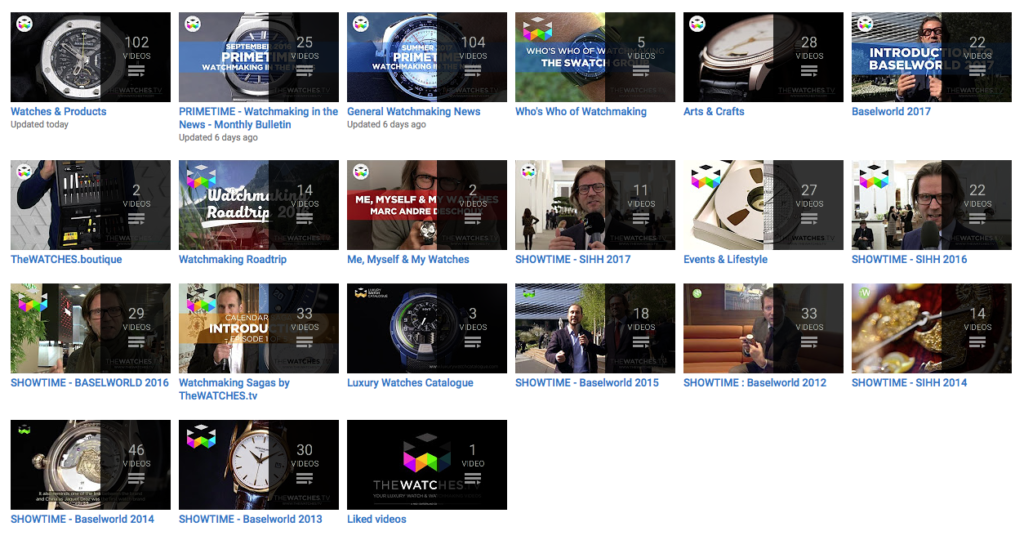 The Watches TV YouTube Channels