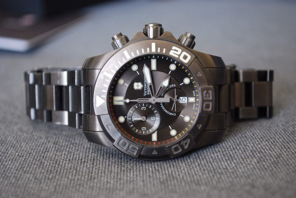 I bought the Victorinox Swiss Army Dive Master 500 Chronograph instead. Photo: Stephen McGee