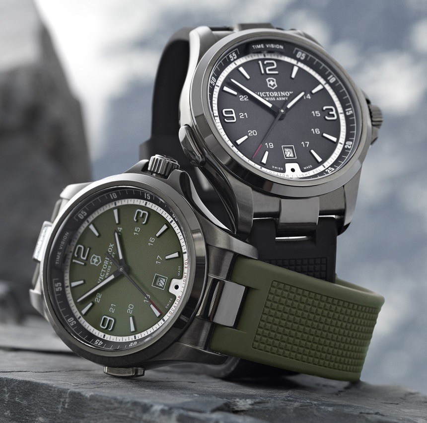 The latest versions of Swiss Army Night Vision watch. Photo: Victorinox Swiss Army