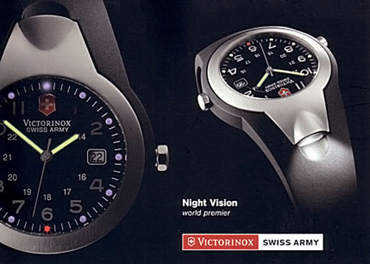 Promotional images of Night Vision 1 by Victorinox Swiss Army