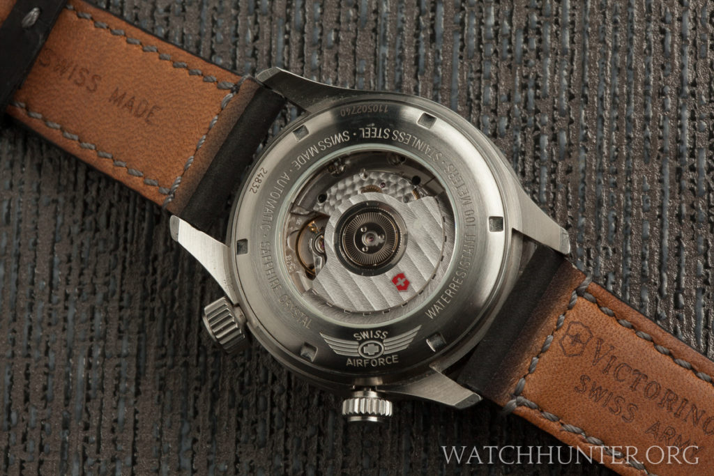 The back is as pretty as the dial view with the movement decoration.