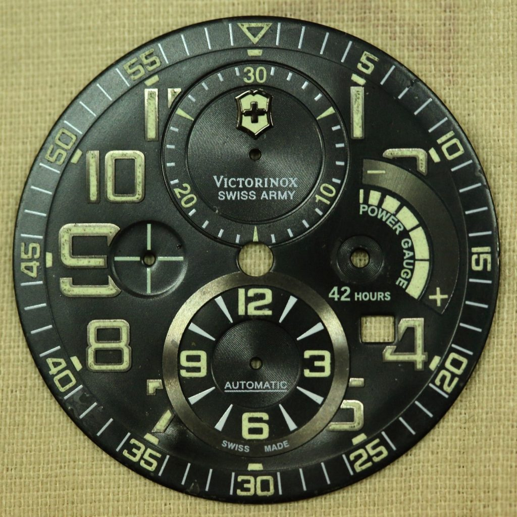 A loose Swiss Army Airboss Mach 6 Limited Edition Dial.Photo:www.ipreferanalogues.com
