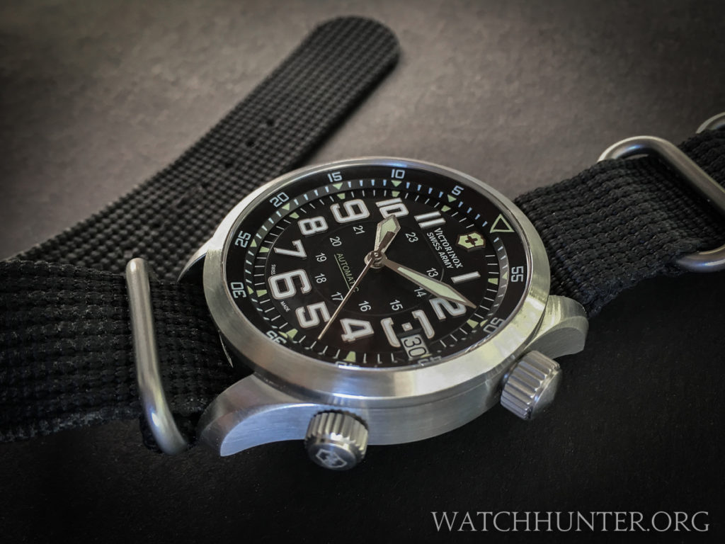 The Victorinox Swiss Army Airboss Mach 7 is robust at 15 mm tall