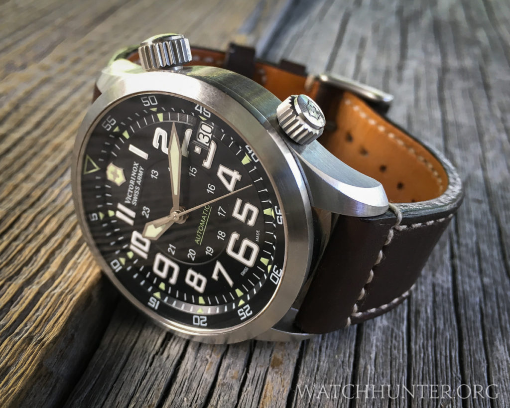 A Swiss Army Airboss Mach 7 on a 23 mm strap borrowed from one of my other Airboss models
