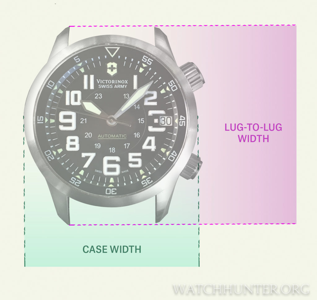 Case width and lug-to-lug distances are both important measurements when fitting a watch to your wrist