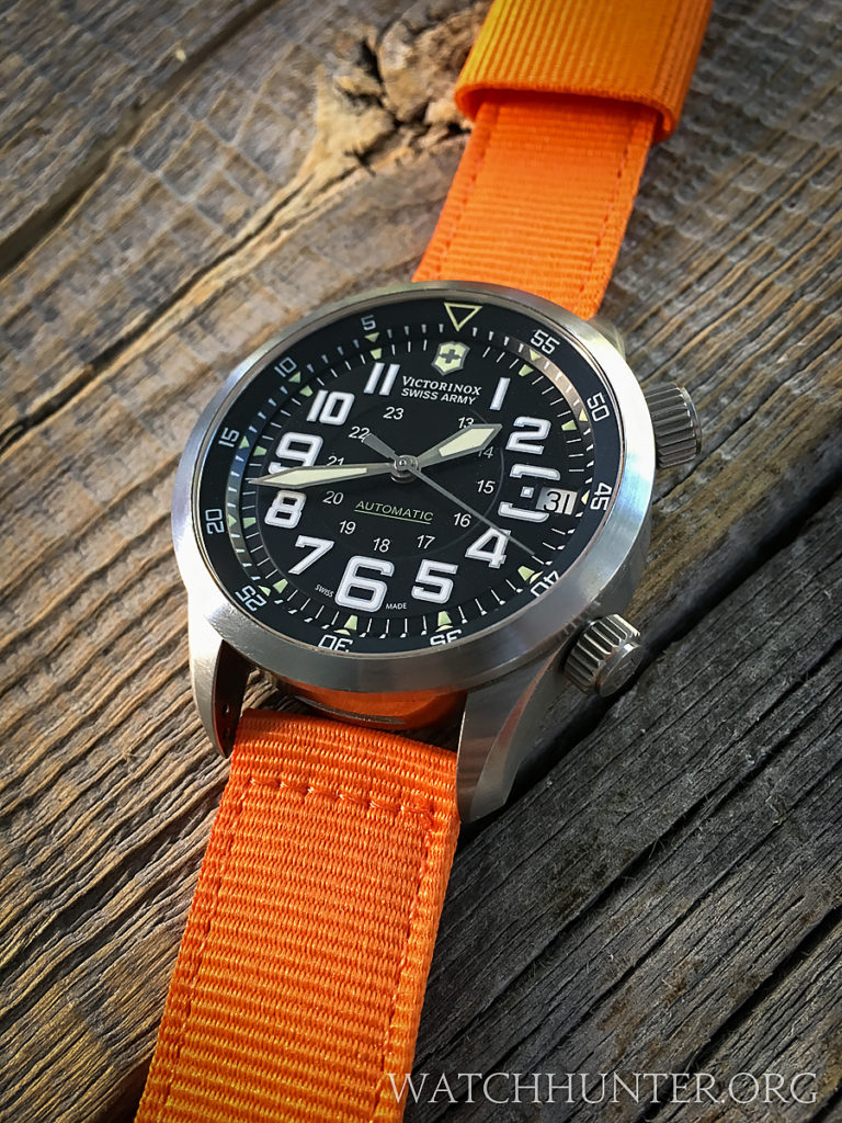 This 2-piece watch band was not installed, but orange might work too!