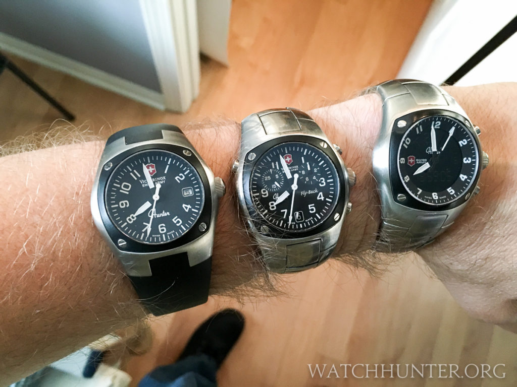 The Victorinox Swiss Army Hunters - Mach 1, Mach 2 and Mach 3 - are awesome. Resist the temptation to wear them all at once!