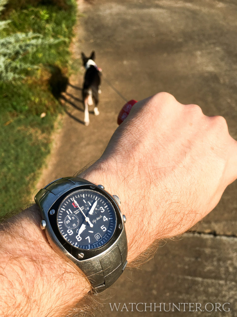 The Victorinox Swiss Army Hunter Mach 2 has a highly legible dial.