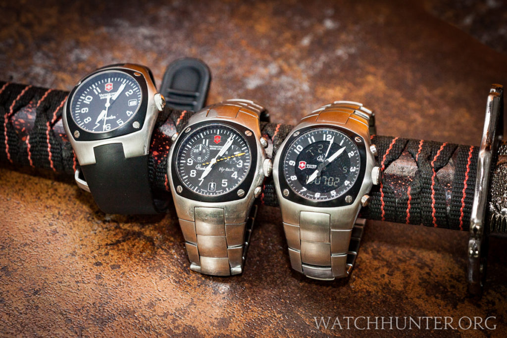 These Victorinox Swiss Army Hunter watches Mach 1, 2 and 3 are much sharper than this toy samurai sword