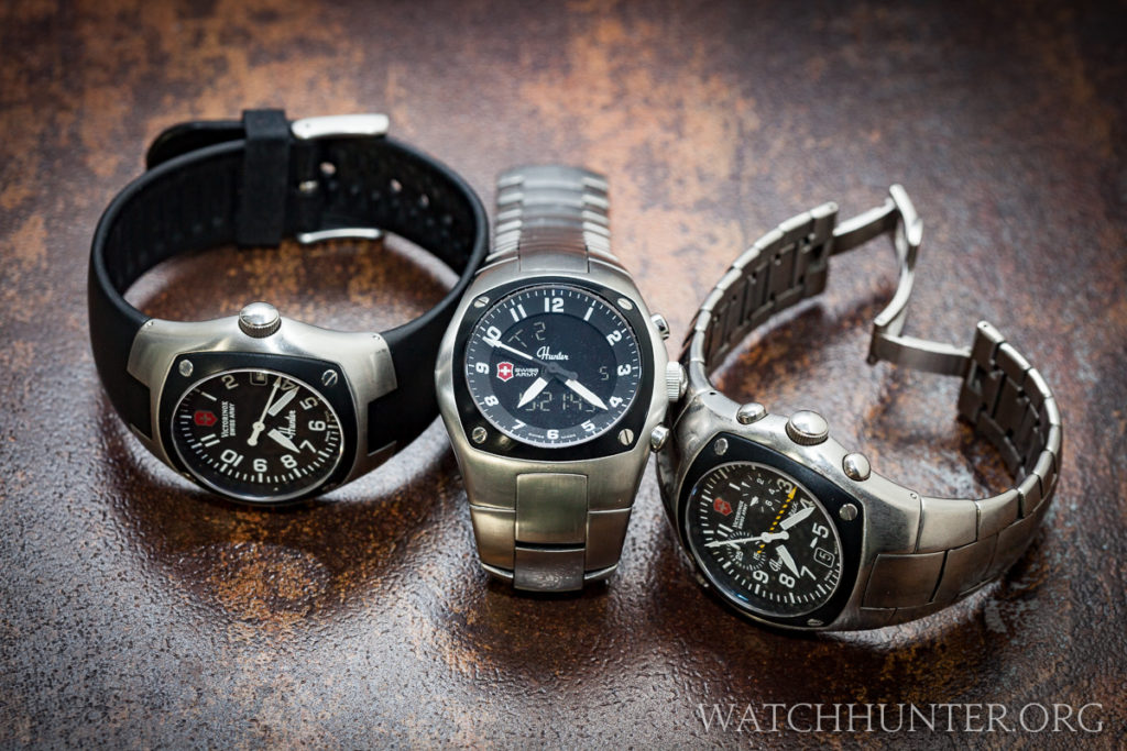 Victorinox Swiss Army Hunter Watches - Mach 1, Mach 3 and Mach 2 share family traits yet each has unique functions