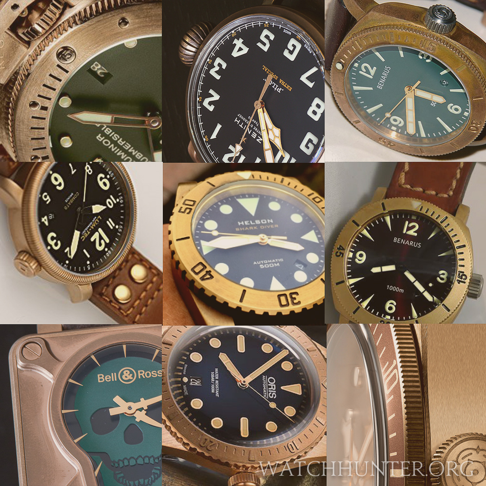 Just some of the bronze watches available today or in the recent past