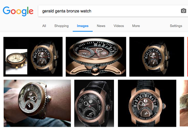 You'll have to Google to see the Gerald Genta watch because sadly, I don't own one.