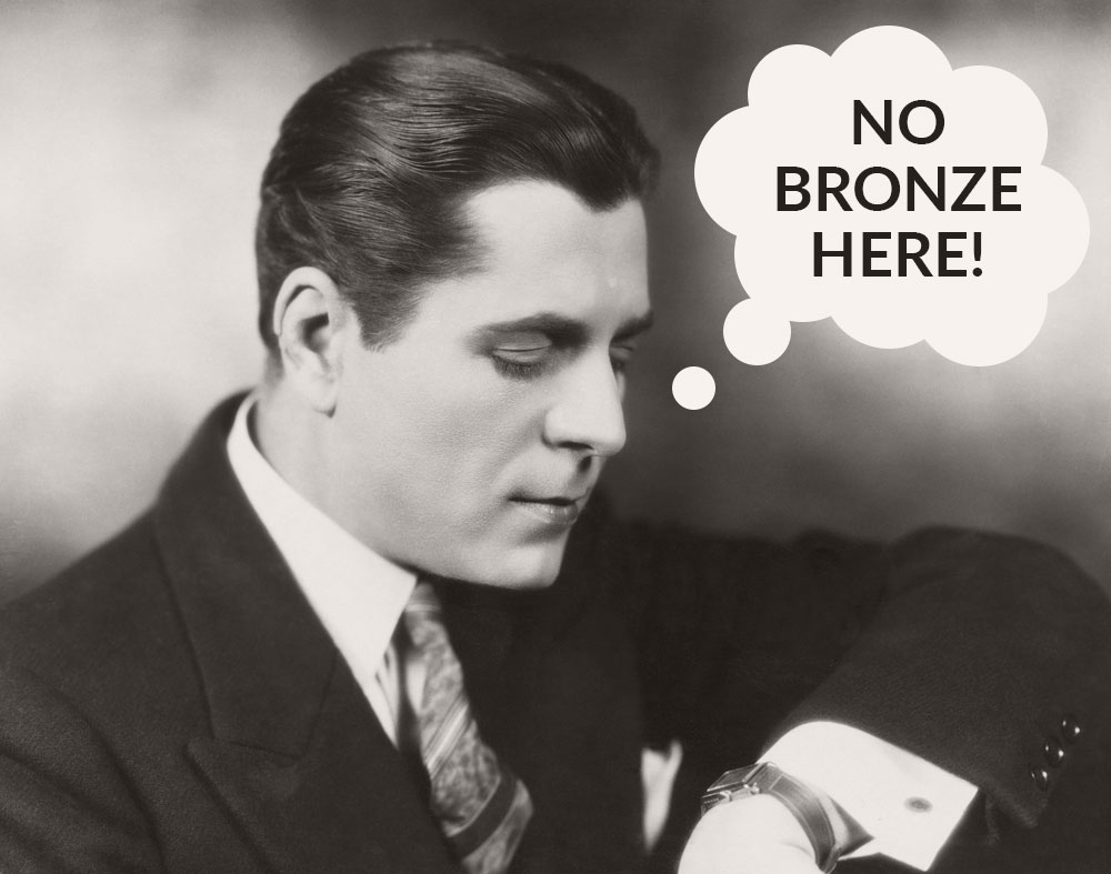 Where are the real retro bronze wrist watches? Certainly not in the early 20th century.