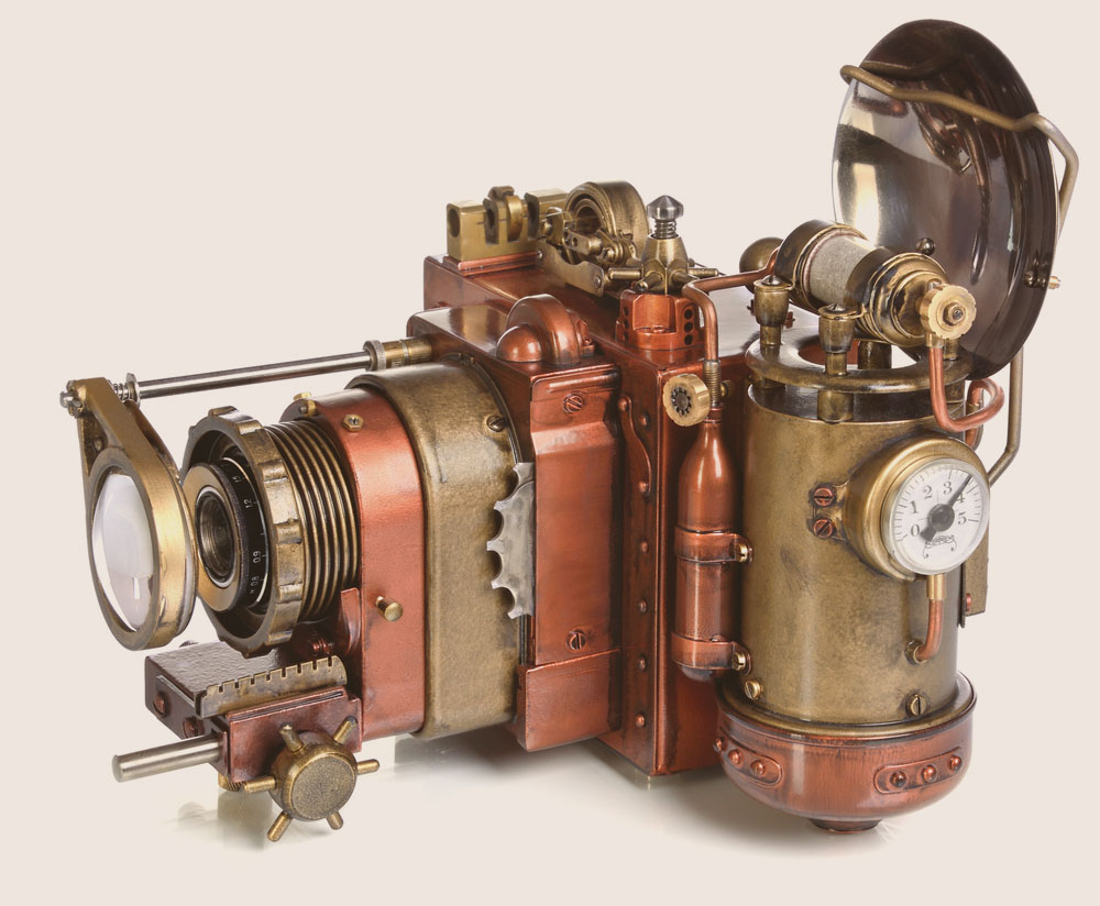 A fantasy steampunk camera that has been aged with patina. Photo: Shutterstock.com