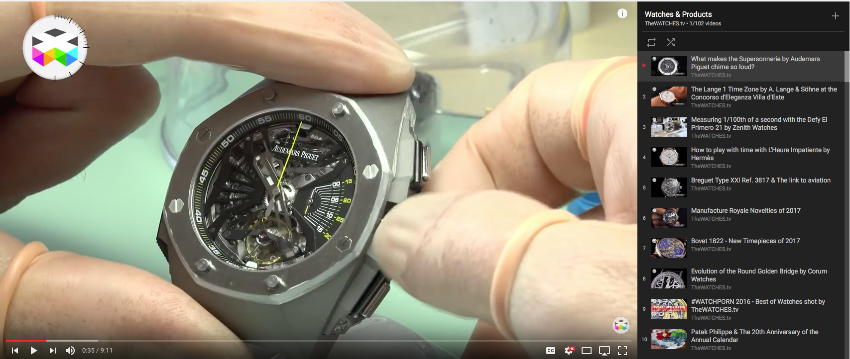 The Watches TV Product Review Playlist